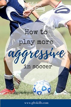 Some soccer players have aggression in them naturally - they're not afraid of the ball, the other players or the play. Other's don't have the aggression in them, and that is what makes soccer such a beautiful thing is that you can have players who are opp Soccer Training Drills, Soccer Drills For Kids, Soccer Workouts, Soccer Practice, Soccer Skills, Soccer Coaching, Youth Soccer, Soccer Tips, Kids Soccer
