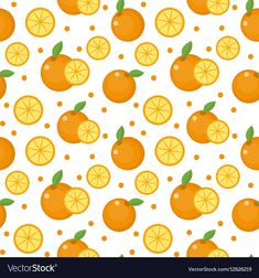 Orange seamless pattern Mandarin citrus endless vector image on VectorStock Banana Slice, Web Design, Graphic Design, Orange Fruit, Adobe Illustrator, Vector Free, Pdf, Texture, Illustration