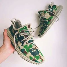 Bape Camo Yeezy Boosts by Tag someone who would cop! Make sure to for a feature! Painted Sneakers, Painted Shoes, Custom Sneakers, Custom Shoes, Street Outfit, Street Wear, Skate Wear, Sneaker Stores, Urban Outfits