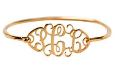 Cutout Monogram Sterling Gold Vermeil Bracelet - perfection