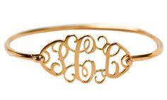 Cutout Monogram Sterling Gold Vermeil Bracelet - perfection