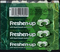 When I was 7, this was the coolest gum EVER. // freshen up gum
