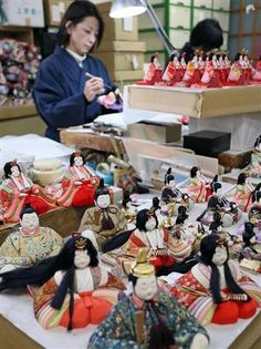 Hina dolls ready for shipment, Saitama, Japan ひな人形
