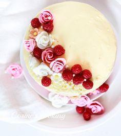Himbeer-Vanille Mädchentraum Torte Panna Cotta, Pudding, Ethnic Recipes, Desserts, Food, Vanilla, Pies, Kuchen, Raspberries