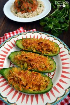 Calabacitas rellenas de vegetales (gratinadas) | http://www.pizcadesabor.com/2014/05/19/calabacitas-gratinadas-rellenas-de-vegetales/