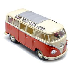 Retro 60's Volkswagen Van - 1:24 scale Miniature Cars, Classic Toys, Motor Skills, Educational Toys, Scale Models, Little Ones, Volkswagen, Van, Adventure