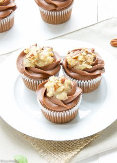 german chocolte cupcakes #german #chocolate #cupcakes #coconut #pecans .