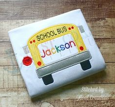 School Bus Frame Applique - 4 Sizes! | What's New | Machine Embroidery Designs | SWAKembroidery.com East Coast Applique