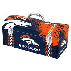 Denver Broncos Steel Tool Box