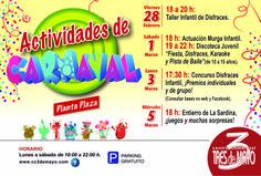"""¡¡ACTIVIDADES DE CARNAVAL EN EL C.C 3 DE MAYO!!!  - Viernes 28 de Febrero: 18:00 a 20:00 hrs  Taller Infantil de Disfraces   - Sábado 1 de Marzo: 18:00 hrs  Actuación Murga Infantil. 19:00 a 22:00 hrs Discoteca Juvenil """"Fiesta, Disfraces, Karaoke y Písta de Baile (de 10 a 15 años)  - Lunes 3 de Marzo: 17:30 hrs Concurso Disfraces Infantil, ¡Premios individuales y de grupo!  - Miércoles 5 de Marzo: 18:00 hrs  Entierro de La Sardina, ¡juegos y muchas sorpresas!"""
