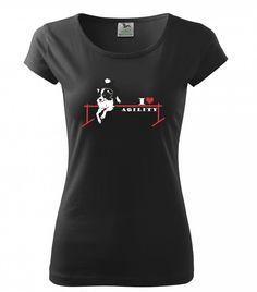 Agility nejsou jen zábava, agility jsou závislost! Dámská trička Pure nebo klasická unisexová trička Heavy v barvách bílá a černá s červeno černým nebo červeno bílým potiskem. 199 Kč T Shirts For Women, Unisex, My Love, Mens Tops, Shopping, Fashion, Moda, Fashion Styles, Fashion Illustrations
