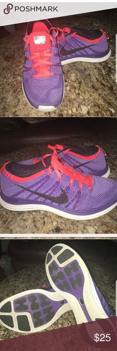 2f6d3c7283b2 Nike women s shoes Purple and salmon color comfy sneakers. Good condition. Nike  Shoes Athletic