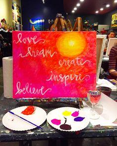 Nothing better than some art on a Monday night... and wine.  #pinotspalette #networqueenoc #happymonday #oc #orangecounty