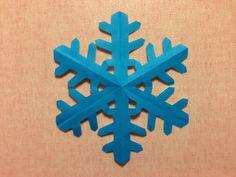 折り紙「雪の結晶」の簡単な作り方<切り絵>   ORIGAMI-FUN【簡単な折り紙の折り方を探すならココ】