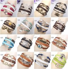 Buy Cheap Charm Bracelets For Big Save, Infinity Bracelets Mix 16 Style Fashion Jewelry Wholesale Leather Infinity Charm Bracelet Vintage Accessories Lover Gifts Online At A Discount Price From Cherylz | Dhgate.Com