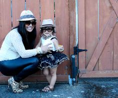 Animaux lovahs!  Mommy-and-me coordinating - leopard style. www.babystylista.com