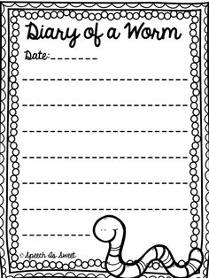 Diary of a Worm Ideas (Plus Two Freebies!)