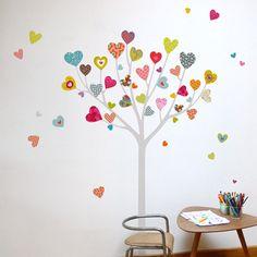 mia&co Heart Tree Giant Transfer Wall Decals - Wall Sticker, Mural, & Decal Designs at Wall Sticker Outlet Wall Transfers, Wall Appliques, Tree Decals, Heart Tree, Nursery Wall Decals, Nursery Room, Baby Room, Bedroom, Tree Wall