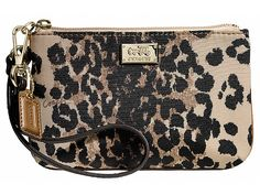 COACH Madison Ocelot Small Wristlet #bags #accessories
