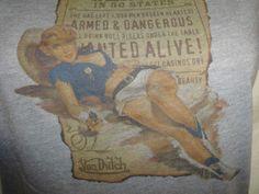 Von Dutch M Sexy Wanted Poster Pin Up Rockabilly Top T Shirt TShirt Cow Girl  #VonDutch #GraphicTee