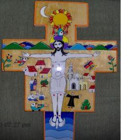 cruz para pared, madera de pino, acabada en poliester, cruz madera de pino,poliester,pintura en acrílico pincel,poliester