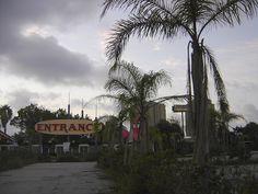 The abandoned entrance to Miracle Strip Amusement Park, Panama City Beach, Florida by stevesobczuk, via Flickr