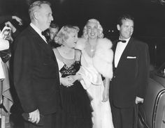 At Ciro's, probably early 1950s, from Left: Horace Brown and his wife, Marion Davies; Davies' illegitimate daughter with William Randolph Hearst, Patricia Van Cleve; and Van Cleve's husband Arthur Lake.