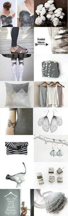 Shades of gray by Ofra Graf Aviv on Etsy--Pinned with TreasuryPin.com