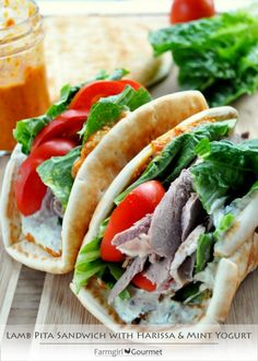 This looks delicious.  Must make when my half a lamb share arrives. Lamb Sammie
