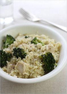 Chicken, lemon & broccoli risotto #risotto #recipe #broccoli