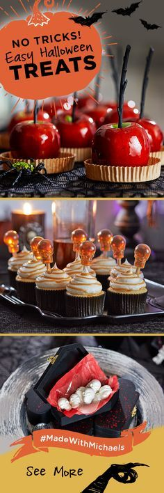 No tricks, just treats! These easy to make halloween treats are sure to be a hit at your Halloween party. Learn how to make these treats and get even more ideas at Michaels.