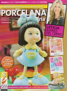 Cold Porcelain magazine 8 by Leticia Suarez del Cerro (Spanish) Projects for Easter Step by Step - Porcelana fria - Biscuit - clay by AmGiftShoP on Etsy Spanish Projects, Baby Shower Items, Baby Mermaid, Mermaid Dolls, Clay Baby, Fondant Tutorial, Air Dry Clay, Polymer Clay Art, Book Crafts
