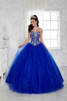Strapless Beaded Dress by House of Wu Fiesta Gowns Style 56281 – Quinceanera 2020 Pretty Quinceanera Dresses, Cute Prom Dresses, Blue Wedding Dresses, 15 Dresses, Ball Dresses, Pretty Dresses, Beautiful Dresses, Quincenera Dresses Blue, Quinceanera Ideas