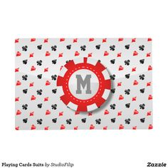 Playing Cards Suits Placemat