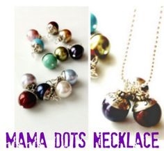 PERFECT FOR MOTHER'S DAY!  Personalized Mama Dot Necklaces Starting at $12.99 + FREE Shipping #hotdeals #sale #personalized