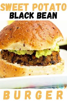 This vegan and gluten free Sweet Potato Black Bean Burger is the BOMB DIGGITY. Such a great healthy veggie burger recipe! We just love this dinner idea for meatless Monday.