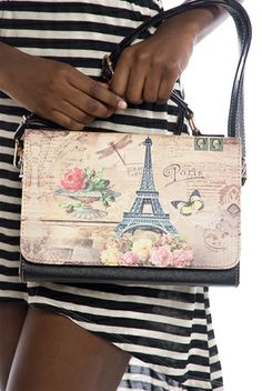 Bon Voyage Paris Handbag - Black from Jewelry & Accessories at Lucky 21
