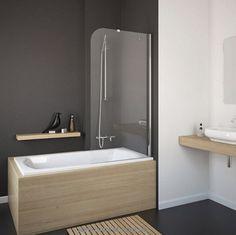 шторка для ванной - Поиск в Google Japanese Interior Design, Wooden Bathroom, Bathtub, Dom, Google, Poland, Wood Bathroom, Standing Bath, Bath Tub