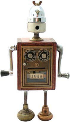 "Name: Fargo  D.O.B.: 10/1/08  Height: 14.5""  Principal Components: Post office box, acetylene torch regulator, car window handles, door knobs"
