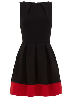 I could imagine this for a black and red wedding bridesmaid's dress. Contrast hem from Dorothy Perkins