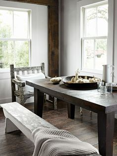rustic white living | White Dining Rooms - Rustic White Decorating Ideas - Country Living