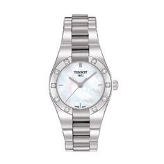 Tissot Glam Sport Mother Of Pearl Ladies Watch T043.010.61.111.00, (watches, tissot, tissot womens prc100, womens, casual watch, dress watches, wrist watches, bracelet watches, lovely womens t-race, diamond watches)