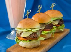 Mini Cheeseburgers and a Strawberry Milkshake by Chef John Besh at The American Sector in The National WWII Museum