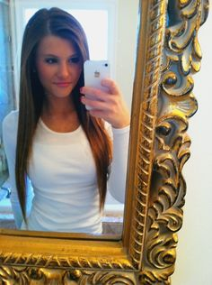 i love long, straight hair! its so cute... and i also like that mirror... i want that mirror