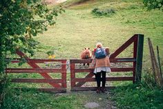 when I was little, on sunny afternoons my babysitter would take me for walks on dirt paths just outside of town. I loved walking by farms and saying hello to the horses...