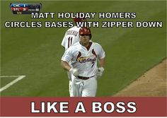 Matt Holliday, like a boss
