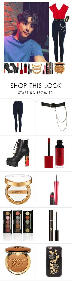 """Selca with J-Seph"" by yoonkimin ❤ liked on Polyvore featuring Topshop, Wet Seal, Lancôme, Bourjois, AmorePacific, Avon, Yves Saint Laurent, Too Faced Cosmetics and Dolce&Gabbana"