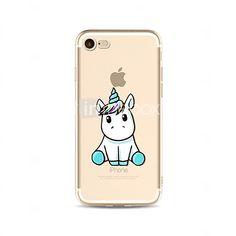 Para Traslúcido / Diseños Funda Cubierta Trasera Funda Animal Suave TPU AppleiPhone 7 Plus / iPhone 7 / iPhone 6s Plus/6 Plus / iPhone 2017 - $3.99