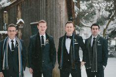 Scarves #winterwedding #wedding #scarves #groomsmen #groom #entourage Photography by Mango Studios