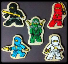 Ninjago custom sugar cookies party favors  1 by AmazingGlazeCakes, $36.00